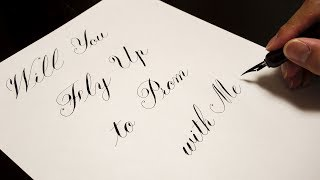 Copperplate script prom proposal massage pen zebra gpen Autonomous ...