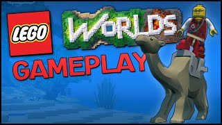 LEGO Worlds Gameplay Part 1 - Building, Flying Eagle & First Impressions - (LEGO Worlds PC Gameplay)