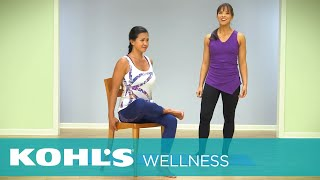 Office Yoga: Hip Stretch | Two Fit Moms | Kohl's