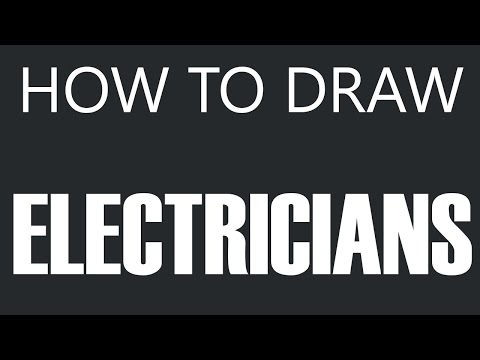 How To Draw An Electrician - Electrician Drawing (Experienced Electricians)