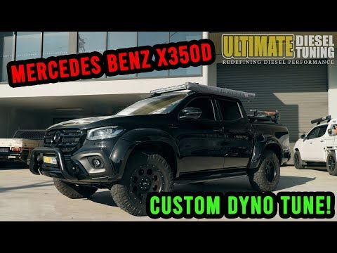 Mercedes X Class custom dyno tune! New V6 engine! Check it out...