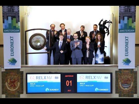 CFO markeert naamsverandering Reed Elsevier naar RELX met gongslag