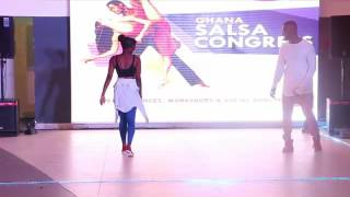 Zouk Performance at Ghana Dance Festival 2016 Salsa Congress Grand Finale