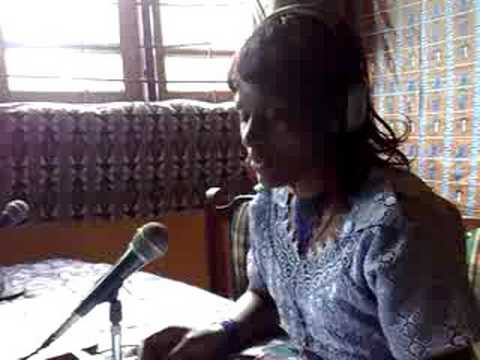 Announcements on DMC Radio, Nkambe, Cameroon