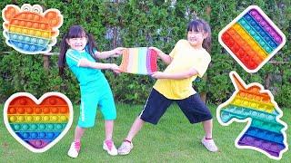 超~楽しい親子ゲームで『プッシュポップ』を獲得しよう! - はねまりチャンネル