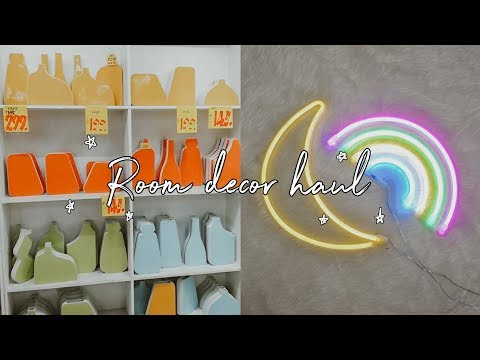 AFFORDABLE ROOM DECOR HAUL As low as 15 Pesos! (NEON LIGHTS, VASES, UNIWIDE)