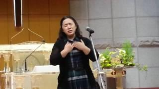 2017 05 03 광주신안교회 수요예배 찬양특송(시편23편~노용진 곡)