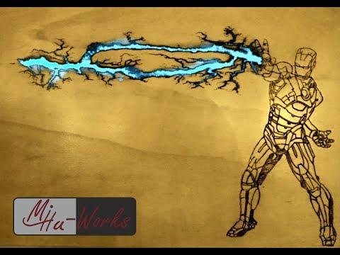 DIY Marvel Art - Iron Man - Lichtenberg Wood Burning #Lichtenberg #coloredepoxy