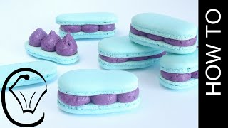 French Macaron Eclairs Blueberry Cheesecake by Cupcake Savvy's Kitchen