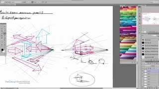How to draw Arrows Part 2 - Arrows in Perspective | Design Sketching