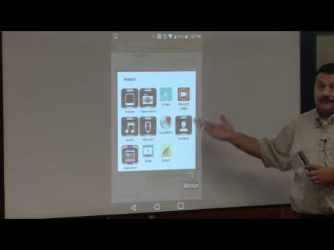 How to attach a photo or file to a text message on an Android smartpohone