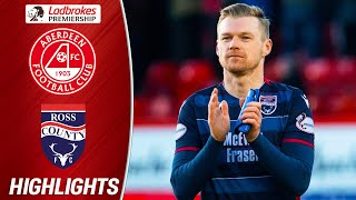 Aberdeen 1-2 Ross County | Mckay Double Displaces Aberdeen From Third Place | Ladbrokes Premiership