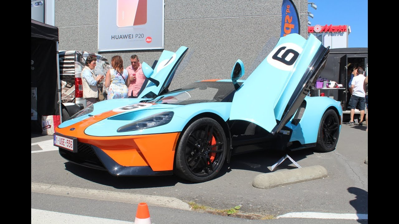 New Ford Gt Gulf Livery First Gt Of Belgium