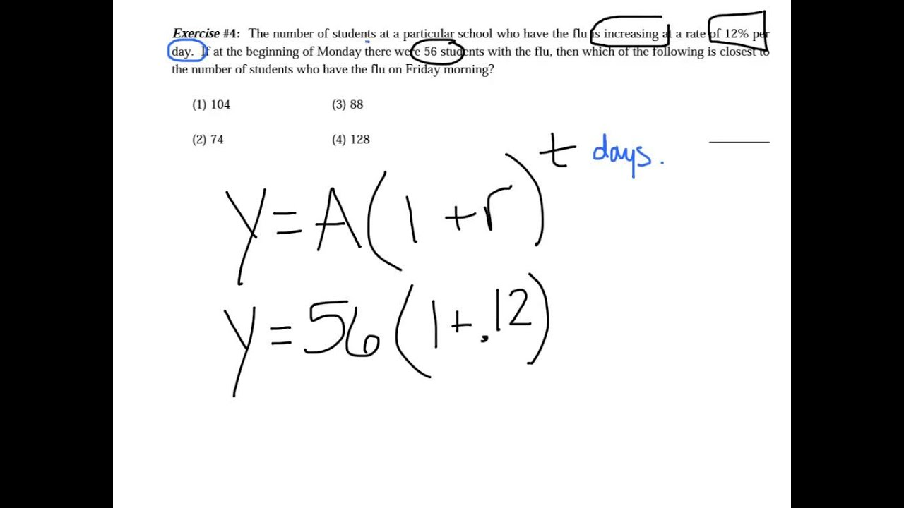EXPONENTIAL GROWTH and DECAY YouTube – Exponential Growth Decay Worksheet