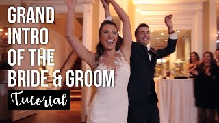 How to MC a killer GRAND INTRO of the BRIDE & GROOM at their wedding using ABLETON LIVE