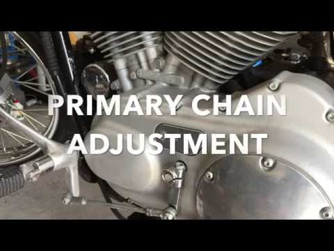 How To Adjust Harley Davidson Sportster Primary Chain - YouTube