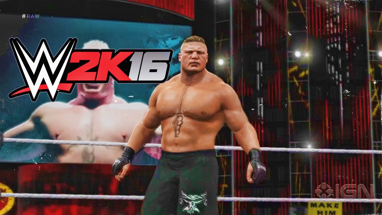 WWE 2K16 - Official Leaked Brock Lesnar Double F5 Gameplay Footage - YouTube