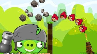 Angry Birds Cannon Collection 2 - BLAST ALL PIGS AFTER THROWING STONE TO BOSS!