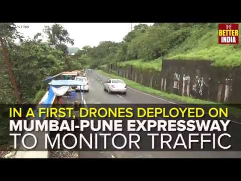 Drones to monitor traffic on Mumbai-Pune highway