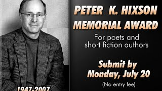 6th Annual Peter K. Hixson Memorial Award For Creative Writers