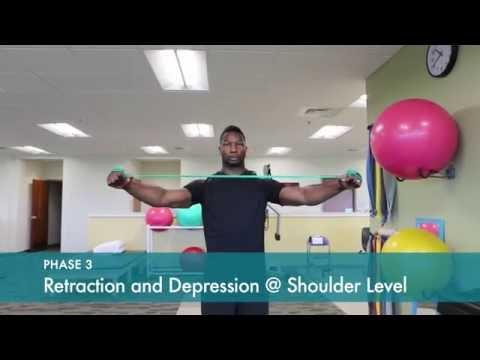 Scapular Muscle Rehabilitation PHASE 3   Shoulder Blade Strengthening Exercises