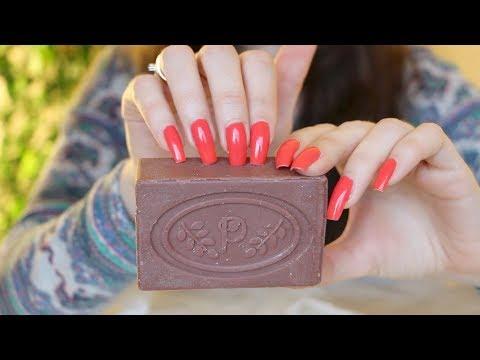 ASMR Soap Nail Tapping & Scratching (No Talking)