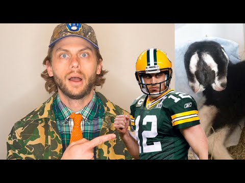 Aaron Rodgers Talks Tiger King, 2-Headed Goat and Jump Around - Manitowoc Minute - Episode 55