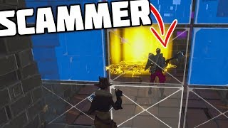 DUMB SCAMMER GETS SCAMMED for his VINDERTECH GUNS!! - Fortnite Save The World Xbox Scammer