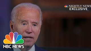 Biden Discusses Plans For First 100 Days In Exclusive Interview | NBC Nightly News