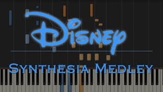 Disney 90's Medley - Synthesia - (Aladdin, Lion King etc)