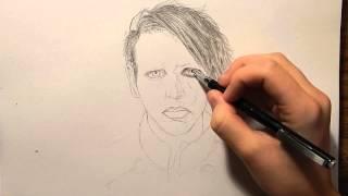 Drawing Marilyn Manson