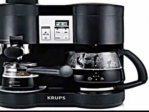 the krups xp160050 steam espresso and coffee machine review youtube. Black Bedroom Furniture Sets. Home Design Ideas