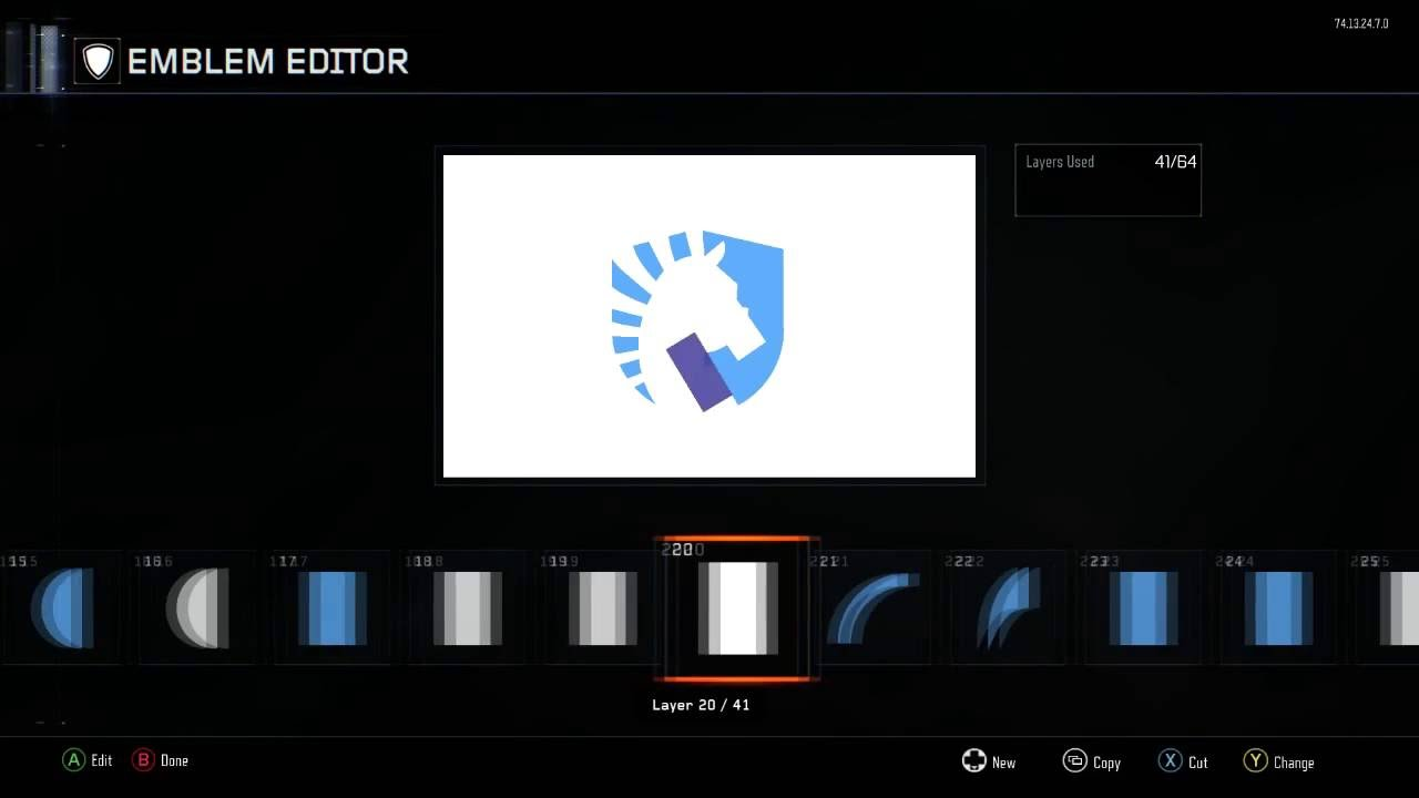Call Of Duty Black Ops 3 Team Liquid Logo Tutorial