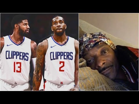 Snoop Dogg reacts to the Clippers getting Kawhi Leonard & Paul George