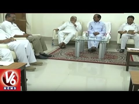 TRS MPs Hold Meeting On No Confidence Motion Against NDA Govt | V6 News
