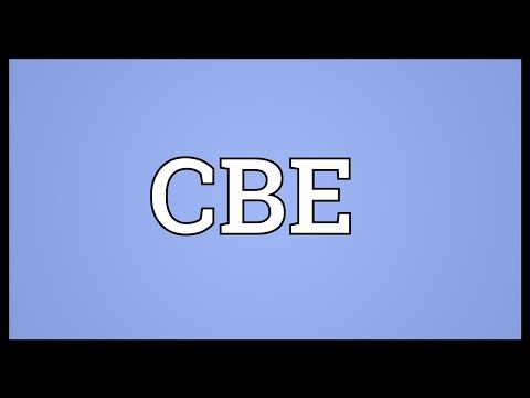CBE Meaning