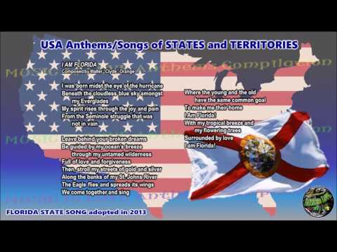 Florida State Song I AM FLORIDA with music, vocal and lyrics