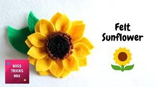 Felt Sunflower DIY Tutorial | Spring Crafts.