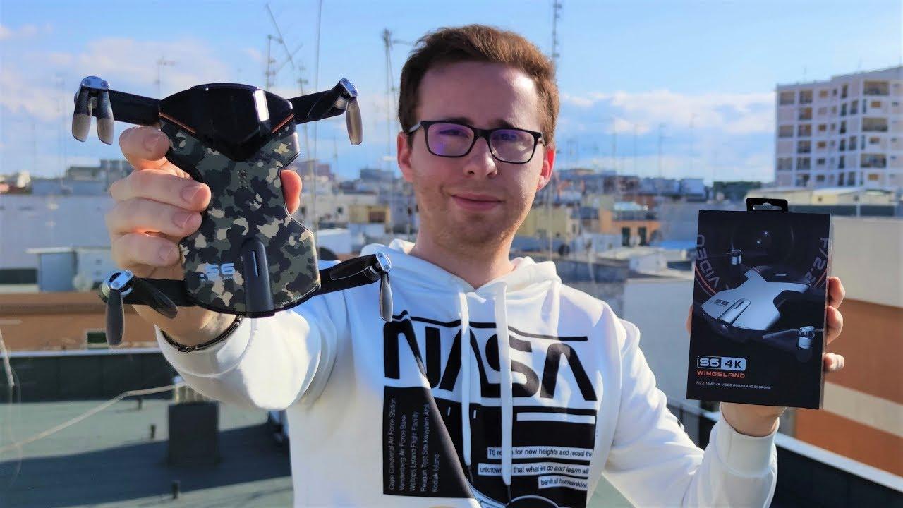 Questo DRONE 4K con GPS e FOLLOW ME costa 60 EURO (invece di 400€)... ma SOLO PER POCO! WINGSLAND S6