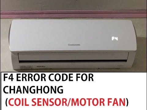 Air Conditioner Troublesouting F4 Error Code For Changhong #id Know