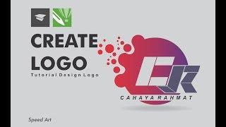How to create logo simple | speed art | graphic design | corel DRAW | membuat logo simpel