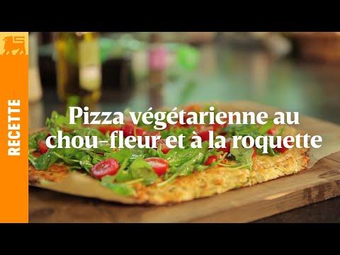 Pizza végétarienne au chou-fleur et à la roquette