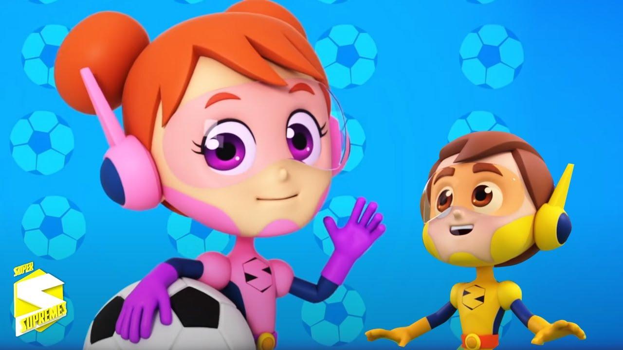 Cancion de futbol | Dibujos animados | Rimas para niños | Super Supremes Español | Educación