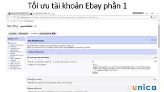 Tối ưu tài khoản ebay  Phần 1