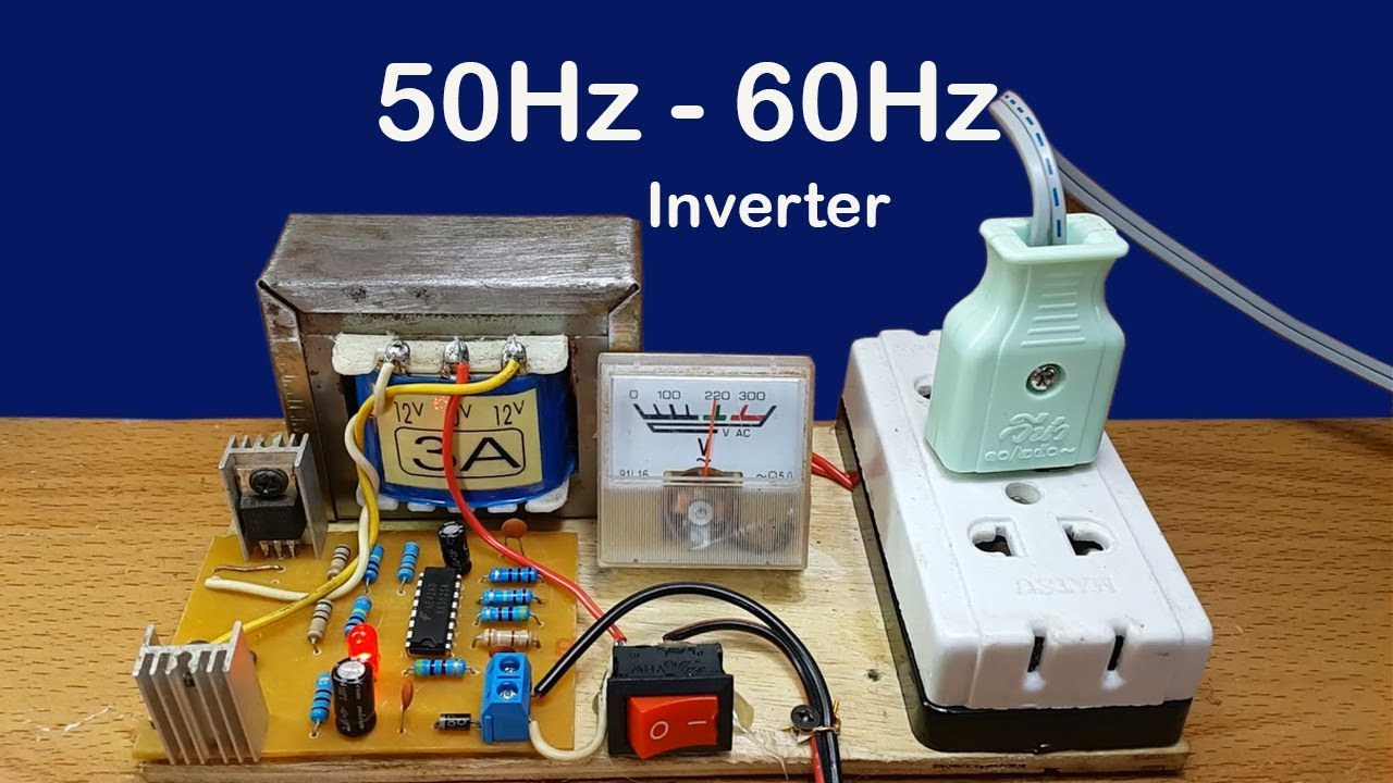 How To Make Mini Inverter 12v 220v Used Ic Ka3525a Circuit 50hz 500 W Diagram 60hz