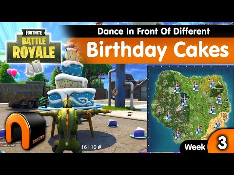 Dance In Front Of Different Birthday Cakes FORTNITE