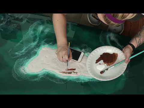 Resin Art   The Making of 'Archie's Island'
