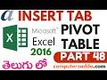 Ms-Excel 2016 in Telugu 48(Pivot Table) (www.computersadda.com)