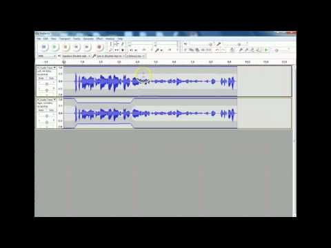 How to adjust the volume in one track in Audacity