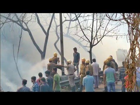 Dunlop fire from Baranagar Railway station